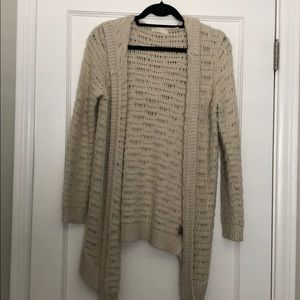Anthropologie Open Front Knit Cardigan with Hood